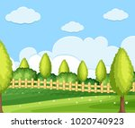 background scene with green... | Shutterstock .eps vector #1020740923