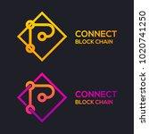 letter p colorful dots logo... | Shutterstock .eps vector #1020741250