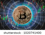 bitcoin digital currency and... | Shutterstock . vector #1020741400