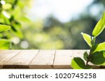 empty table for present product ...   Shutterstock . vector #1020745258
