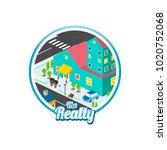 big city isometric real estate...   Shutterstock .eps vector #1020752068
