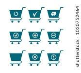 set of shopping cart icon ...   Shutterstock .eps vector #1020752464