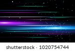 light and stripes moving fast... | Shutterstock . vector #1020754744