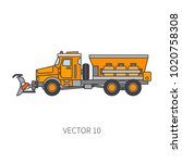 color vector icon construction... | Shutterstock .eps vector #1020758308