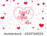 you and me valentine's day... | Shutterstock . vector #1020760024
