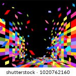 colorful geometric pattern on... | Shutterstock .eps vector #1020762160