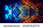 abstract technological... | Shutterstock . vector #1020762574