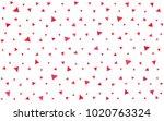 light red vector geometric... | Shutterstock .eps vector #1020763324