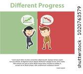 businessman different progress... | Shutterstock .eps vector #1020763579