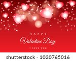 red bokeh vector background... | Shutterstock .eps vector #1020765016
