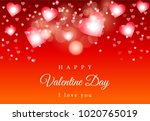 red bokeh vector background... | Shutterstock .eps vector #1020765019