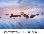beautiful coastal sunset | Shutterstock . vector #1020768610