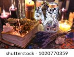 witch ritual collection with... | Shutterstock . vector #1020770359
