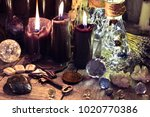 magic crystals  ritual objects  ... | Shutterstock . vector #1020770386