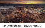 aerial view of green bay during ... | Shutterstock . vector #1020770530