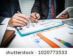 detailed consultation between... | Shutterstock . vector #1020773533