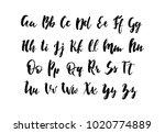 handwritten alphabet. hand...   Shutterstock .eps vector #1020774889