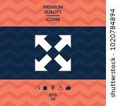 extend  resize icon. cross... | Shutterstock .eps vector #1020784894