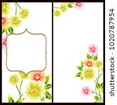 invitation with floral... | Shutterstock . vector #1020787954