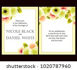 invitation with floral... | Shutterstock . vector #1020787960