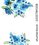greeting card with flowers ... | Shutterstock . vector #1020789358