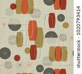retro linen textured weave with ... | Shutterstock .eps vector #1020793414