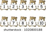bear and number 1to10 | Shutterstock .eps vector #1020800188