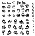 coffee labels and icons set.... | Shutterstock .eps vector #1020806536