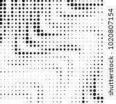 grunge halftone black and white ... | Shutterstock . vector #1020807154