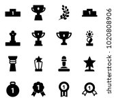 solid vector icon set  ... | Shutterstock .eps vector #1020808906