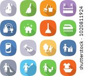 flat vector icon set   cleanser ... | Shutterstock .eps vector #1020811924