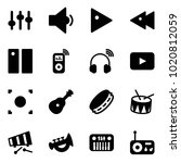 solid vector icon set  ... | Shutterstock .eps vector #1020812059