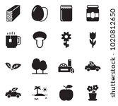 solid black vector icon set  ... | Shutterstock .eps vector #1020812650