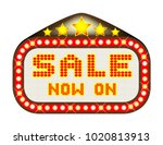 a sale now on movie theatre or... | Shutterstock . vector #1020813913