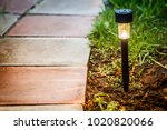Garden Led Light On A Green...
