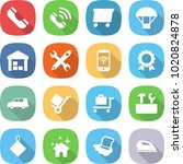 flat vector icon set   phone... | Shutterstock .eps vector #1020824878