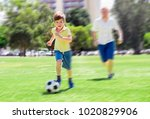 young happy father and excited... | Shutterstock . vector #1020829906