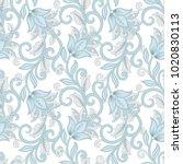 floral vector illustration in... | Shutterstock .eps vector #1020830113
