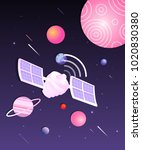 space world illustration | Shutterstock .eps vector #1020830380