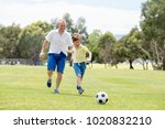young happy father and excited... | Shutterstock . vector #1020832210