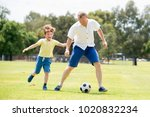 young happy father and excited... | Shutterstock . vector #1020832234