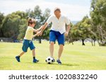young happy father and excited... | Shutterstock . vector #1020832240