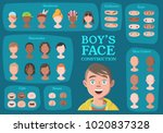 boy's character constructor.... | Shutterstock .eps vector #1020837328