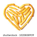 i love potatoes. french fries... | Shutterstock . vector #1020838939