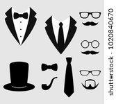 men's jackets. tuxedo with... | Shutterstock .eps vector #1020840670