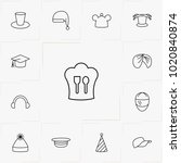 hats line icon set | Shutterstock .eps vector #1020840874