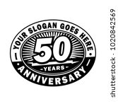 50 years anniversary....   Shutterstock .eps vector #1020842569