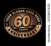 60 years anniversary....   Shutterstock .eps vector #1020842620