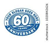 60 years anniversary....   Shutterstock .eps vector #1020842626