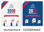 presidential election banner... | Shutterstock .eps vector #1020844660